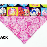 Barbie Dog Bandana, Over the Collar dog bandana, Dog collar bandana, puppy - Furrypetbeds