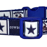 "Dallas Cowboys dog collar handmade adjustable buckle collar 5/8"" wide or leash - Furrypetbeds"