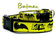 "Batman dog collar handmade adjustable buckle collar 5/8"" wide or leash movie - Furrypetbeds"