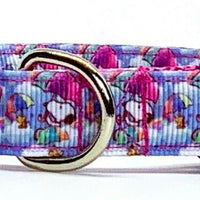"Snoopy dog collar adjustable buckle collar 5/8""wide or leash small dog or cat - Furrypetbeds"