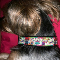 "Mermaid Scales cat or small dog collar 1/2""wide adjustable handmade or leash - Furrypetbeds"
