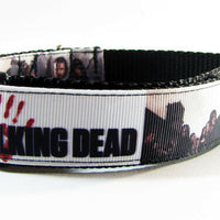 "The Walking Dead dog collar 12.00 adjustable buckle collar 1""wide or leash $12 - Furrypetbeds"