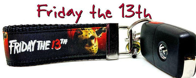 Friday The 13th Key Fob Wristlet Keychain 1 1/4