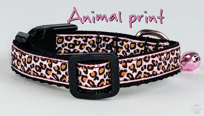 Animal Print cat or small dog collar 1/2