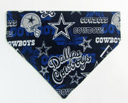 Cowboys Dog Bandana Over the Collar dog bandana Dog collar bandana football - Furrypetbeds