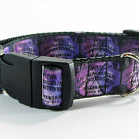 "Ouija dog collar Handmade adjustable buckle collar 1""wide or leash - Furrypetbeds"