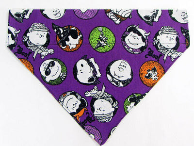 Peanuts Halloween Dog Bandana Over the Collar dog bandana  Dog collar bandana - Furrypetbeds