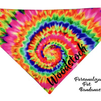 Personalized Dog Bandanas over the collar pet bandana Tie Dye Swirl 9 designs - Furrypetbeds
