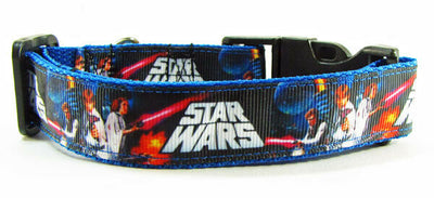 Star War dog collar, handmade, adjustable,buckle collar, 1
