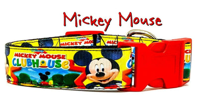 Mickey Clubhouse dog collar handmade adjustable buckle 1