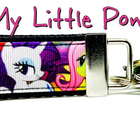 "My Little Pony Key Fob Wristlet Keychain 1 1/4""wide Zipper pull Camera strap - Furrypetbeds"