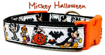 Mickey Halloween dog collar handmade adjustable buckle collar 1