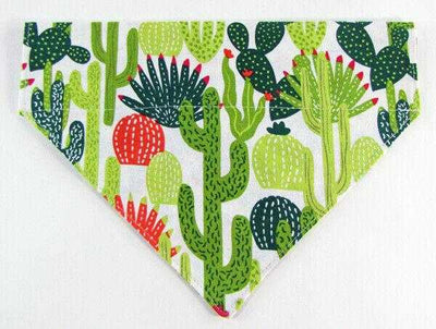 Cactus Dog Bandana, Over the Collar dog bandana, Dog collar bandana, puppy - Furrypetbeds