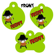 Pet ID Tag Freddy Krueger Personalized Custom Double Sided Pet Tag w/name - Furrypetbeds
