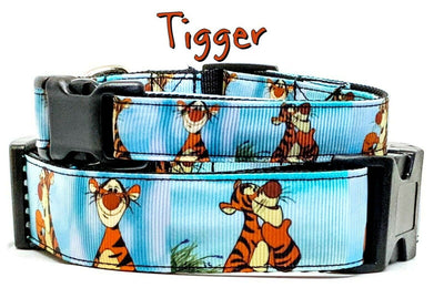 Tigger Winnie the Poo dog collar Handmade adjustable buckle 1