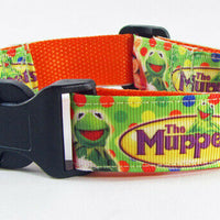 "Muppet's dog collar 12.00 all sizes adjustable buckle collar 1"" wide or leash - Furrypetbeds"