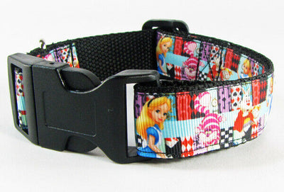 Alice in Wonderland dog collar handmade adjustable buckle collar 1
