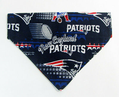 Patriots Dog Bandana Over the Collar dog bandana football Dog collar bandana - Furrypetbeds