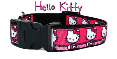 Hello Kitty dog collar Handmade adjustable buckle collar 1