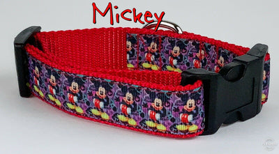 Mickey Mouse dog collar Handmade adjustable buckle collar 1