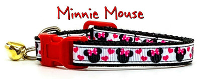 Minnie Mouse cat & small dog collar 1/2