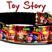 "Toy Story dog collar handmade adjustable buckle collar 5/8"" wide or leash fabric - Furrypetbeds"