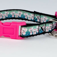 "Puppies cat & small dog collar 1/2"" wide adjustable handmade bell Or leashes - Furrypetbeds"
