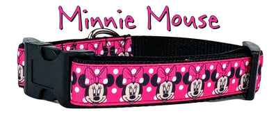 Minnie Mouse Dog collar handmade adjustable buckle collar 1