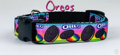 Oreo dog collar handmade adjustable buckle collar 5/8