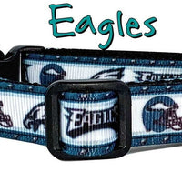 "Eagles dog collar handmade adjustable buckle collar 5/8"" wide or leash fabric - Furrypetbeds"