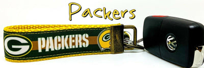 Green Bay Packers Key Fob Wristlet Keychain 1