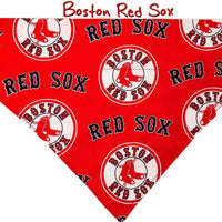 Boston Red Sox Dog Bandana Over the Collar dog bandana Dog collar bandana puppy - Furrypetbeds