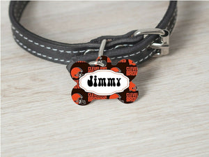Pet ID Tag Cleveland Browns Personalized Custom Double Sided Pet Tag w/name - Furrypetbeds