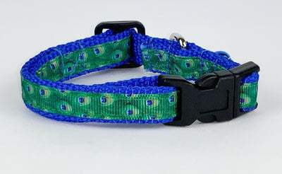 Peacock cat & small dog collar 1/2