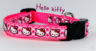 Hello Kitty cat & small dog collar 1/2