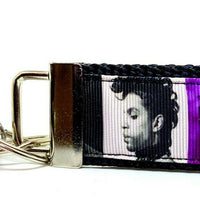 "Prince Key Fob Wristlet Keychain 11/4""wide Zipper pull Camera strap - Furrypetbeds"