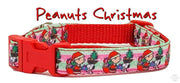 "Peanuts Christmas dog collar handmade adjustable buckle collar 5/8"" wide, leash - Furrypetbeds"