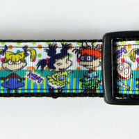"Rugrats dog collar handmade $12.00 adjustable buckle collar 1""wide or leash $12 - Furrypetbeds"
