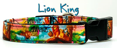 The Lion King dog collar handmade adjustable buckle collar 5/8