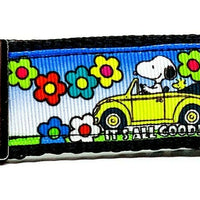 "Snoopy Key Fob Wristlet Keychain 1 1/4""wide Zipperpull or Camera strap Peanuts - Furrypetbeds"