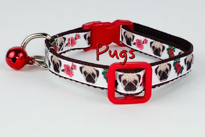 Pugs  cat & small dog collar 1/2