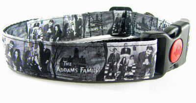 Adams Family Dog collar Handmade adjustable buckle collar 1