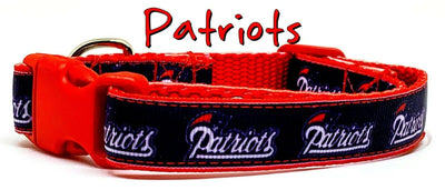 New England Patriots dog collar handmade adjustable buckle collar 5/8
