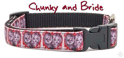 Chuck & Bride Dog collar handmade adjustable buckle collar 5/8