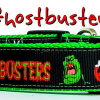 "Ghostbusters dog collar handmade adjustable buckle collar 1""or 5/8""wide or leash"