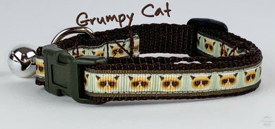 Grumpy Cat  cat or small dog collar 1/2