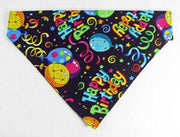 Birthday Dog Bandana, Over the Collar dog bandana, Dog collar bandana, puppy - Furrypetbeds