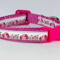 "VW Beetle cat & small dog collar 1/2""wide adjustable handmade bell or leash - Furrypetbeds"