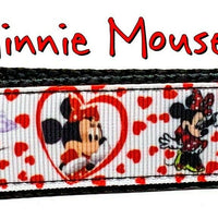 "Minnie Mouse Key Fob Wristlet Keychain 1""wide Zipper pull Camera strap handmade - Furrypetbeds"