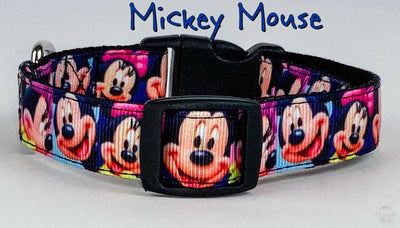 Mickey Mouse Dog collar handmade adjustable buckle collar 5/8